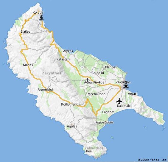 Zakynthos Zakynthos Mapa